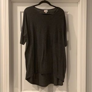 Lularoe Irma xl dark gray Heathered